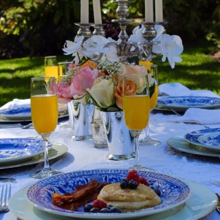 A Bridal Brunch in a Garden Setting