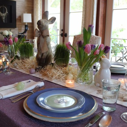 An Elegant Easter Tablescape