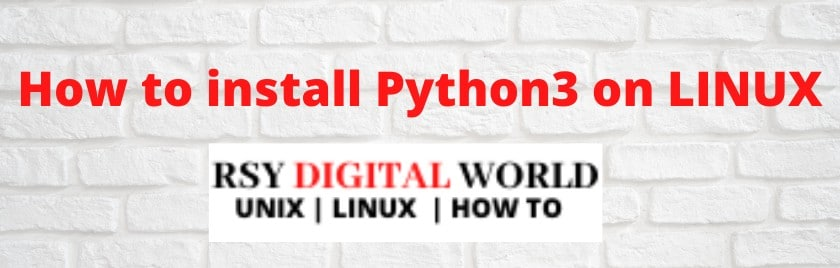 How to Install Python 3 on Linux