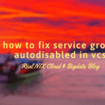 how to fix service group autodisabled in vcs