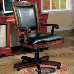 Antique Desk Chair Wheels Wheelchair Charger Wooden On   Interior Design Ideas