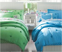 Green and Blue Girls Twin Bedding Sets Motif   Interior ...