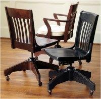 Vintage Wooden Swivel Desk Chair Ideas | Interior Design Ideas