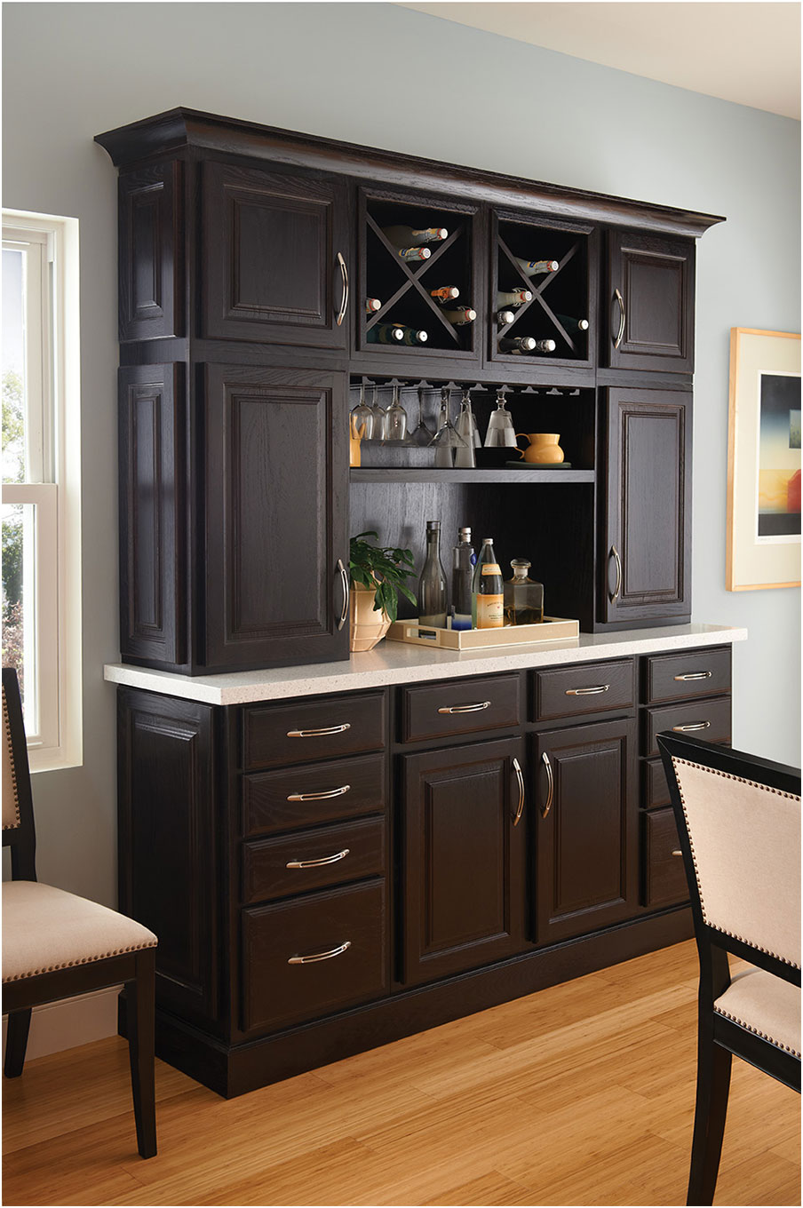Wooden Kitchen Hutch Cabinets Buffets