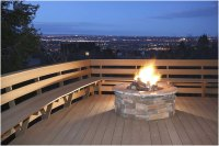 Beautiful Deck Designs with Fire Pit | Interior Design Ideas