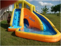 Funny Backyard Inflatable Water Slide for Kids | Interior ...
