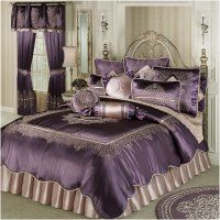 Vintage Luxury Comforter Set Dusty Purple   Interior ...