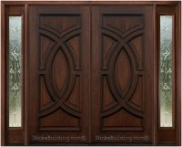 Wood Front Double Doors With Sidelights