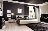Modern Bedroom Arrangement Ideas with Brown Wall Paint ...