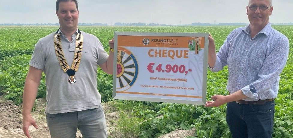 Opbrengst Tafelaardappel € 4.900,-  gedoneerd aan KWF