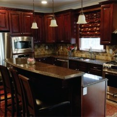 Kitchen Cabinets Set Fan Burgundy All Wood 10x10 Layout Cabinet Maple And Ply Details About