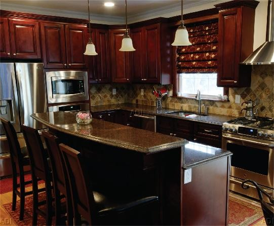 kitchen cabinets set commercial sinks burgundy all wood 10x10 layout cabinet maple and ply details about