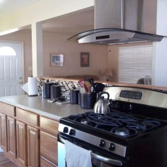 Kitchen Exhaust Fan Installation 2 Drawer Base Cabinet Oak Cabinets With Free Standing Vent Hood | Rta ...
