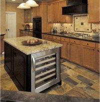 Kitchen Island with Wine Cooler - RTA Cabinet Store
