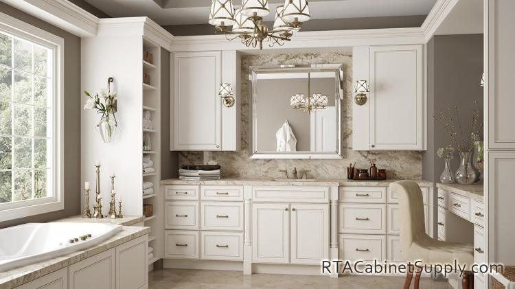 Antique White Ready To Assemble Kitchen Cabinets