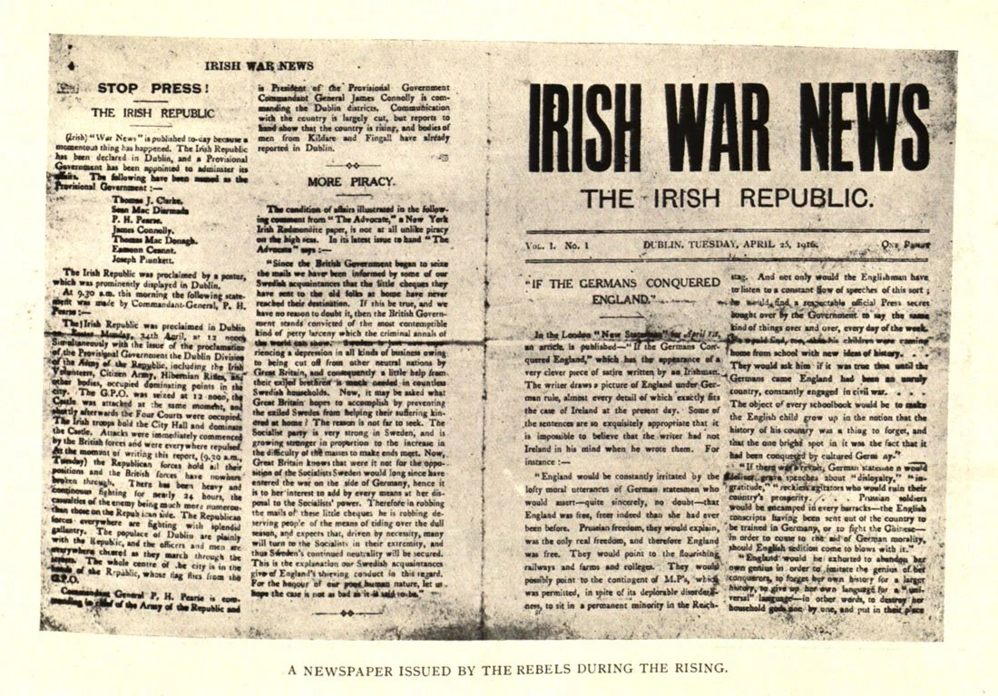 Reporting The Rising Press Coverage Of Easter 1916 Century Ireland