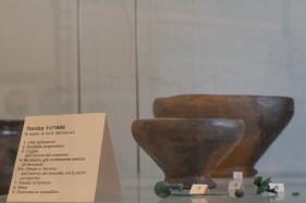 Coppa con resti di birra di epoca celtica rinvenuto nella necropoli di Pombia. Museo Etnografico di Oleggio