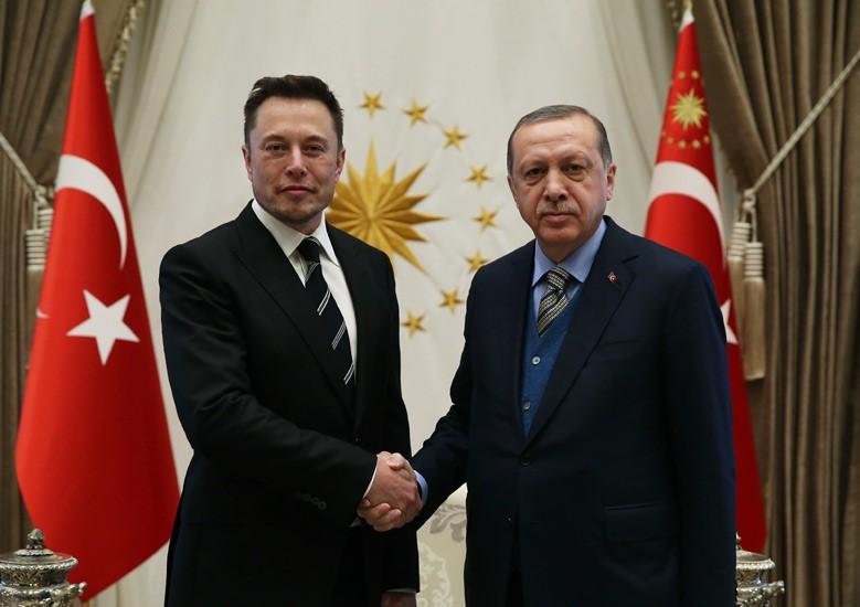 Elon Musk meets Erdogan