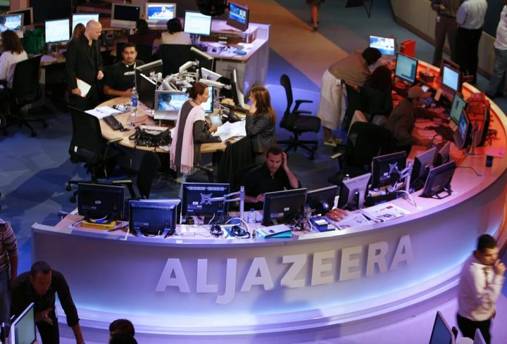 Al-Jazeera satellite channel newsroom