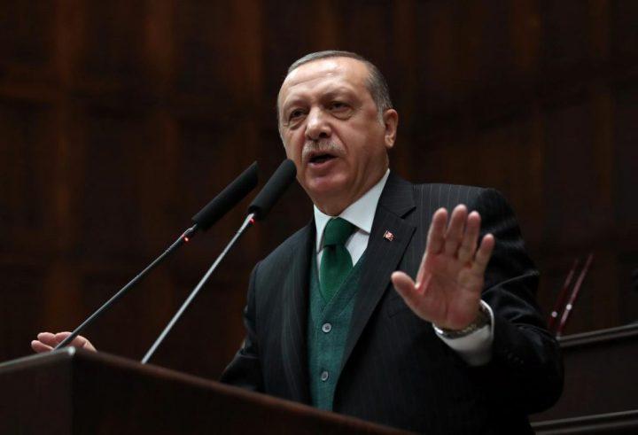Turkish President Erdogan addresses