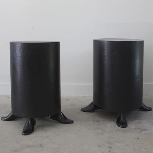 black drum tables