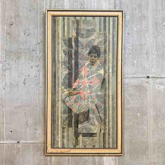 Original Painting of Sitting Woman Signed by Bobsy – 1