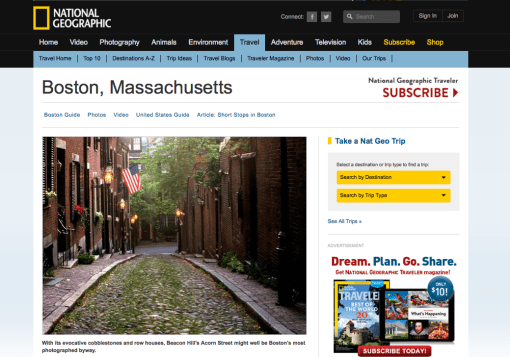 National Geographic Traveler Boston Guide
