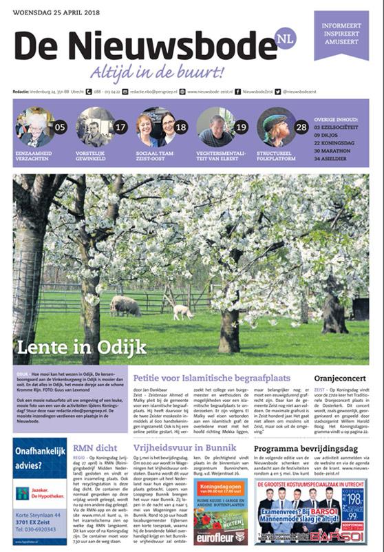 Adverteren in de Nieuwsbode Zeist