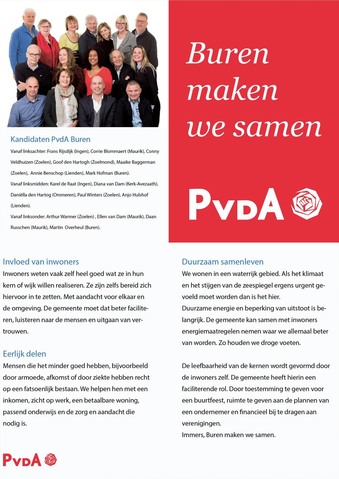 PvdA Buren