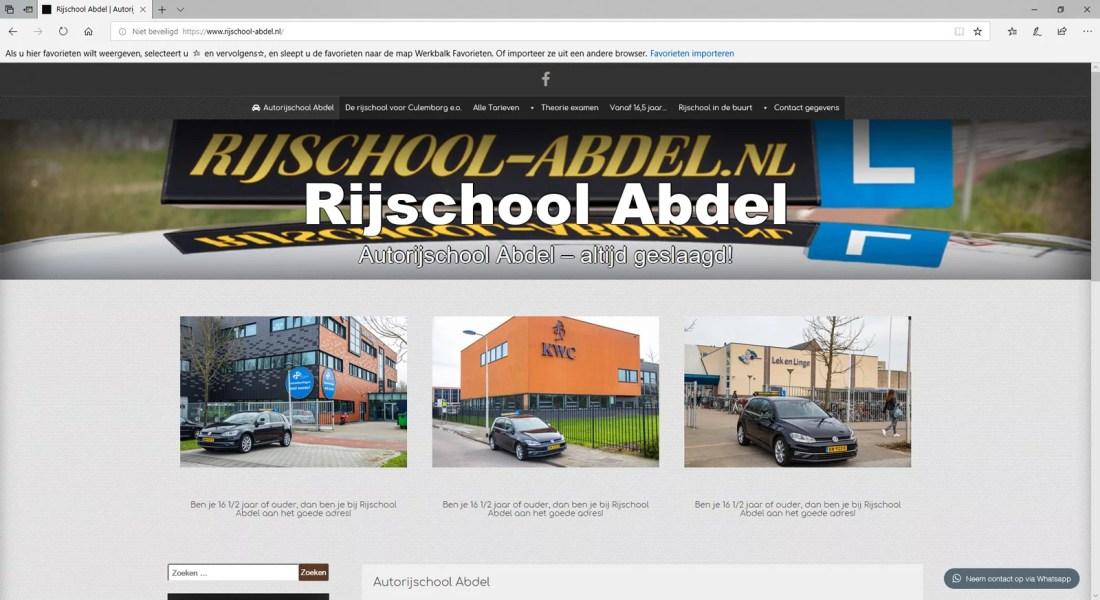 Voorbeelden van websites: Rijschool Abdel