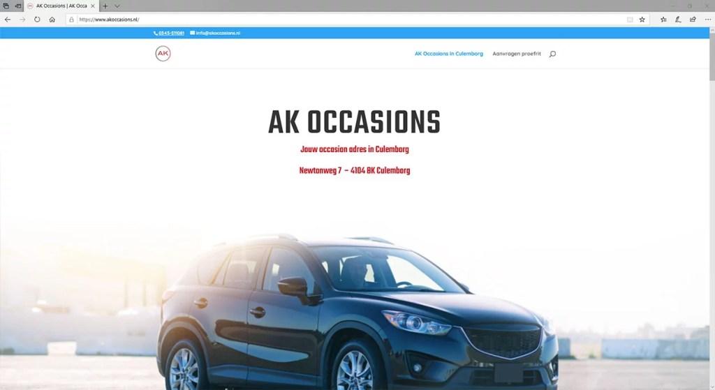 Een website voor een occasionbedrijf