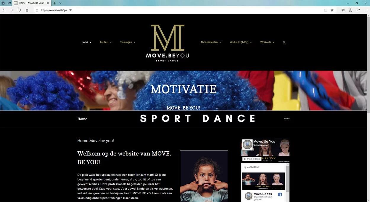 Een website voor een bewegingsschool