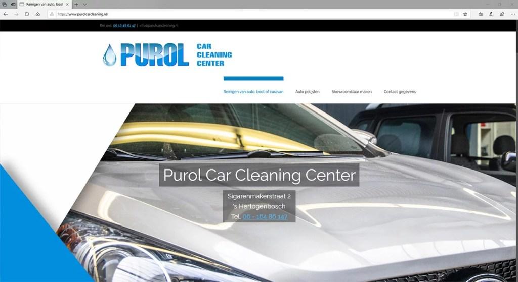 Een website voor een auto cleanings bedrijf