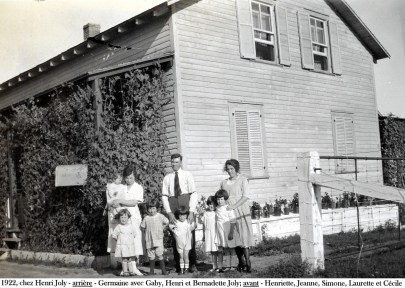 1922, chez Henri Joly à St-Canut