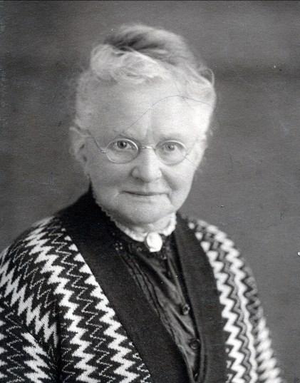 1924, Agnes Bensdorp (1844-1928) soeur de Moe