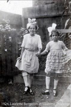 1924 Laurette Bergeron et Laurette Thivierge copie