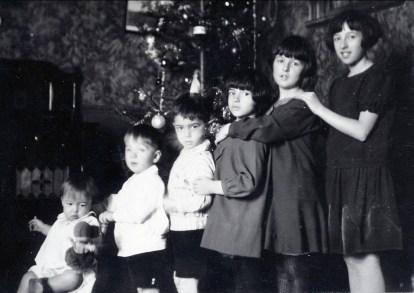 1927, Noël - Maurice, Robert, Louis, Gaby, Henriette et Jeanne
