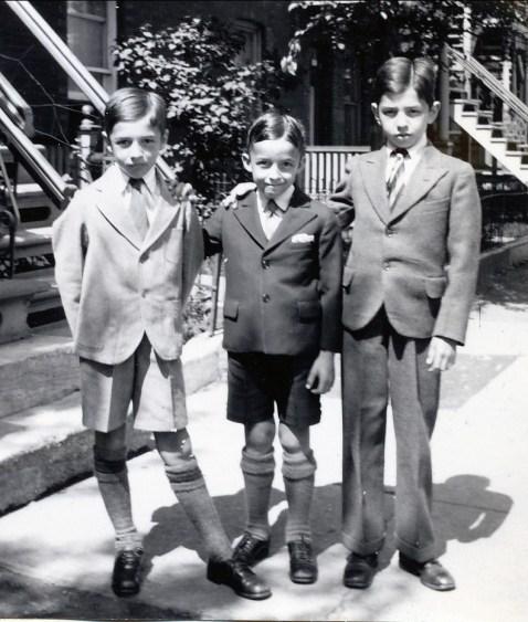 1934, Robert, Maurice et Louis de Kinder
