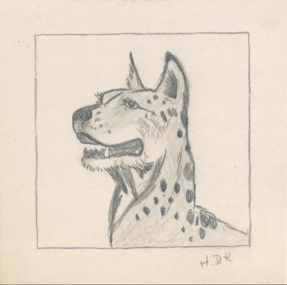1934, dessin d'Henriette
