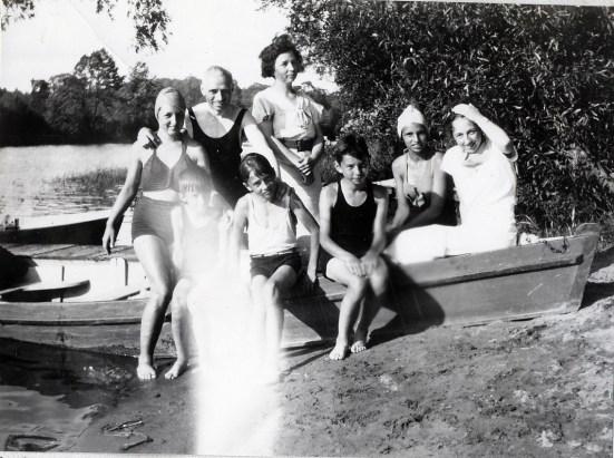 1936, famille de Kinder à la rivière du Nord