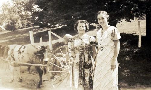 1939, Jeanne de Kinder à St-Didace à la ferme des Hamelin