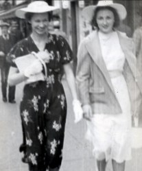 1940, Gerry (daughter of Lizzie and uncle Jim Rochford) and Henriette Thivierge
