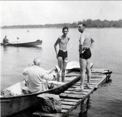 1941, Louis de Kinder et Albert Thivierge - St-Eustache. 24 juillet