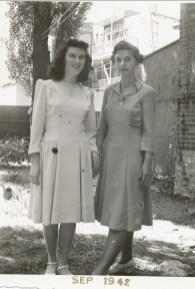 1942, Claire Hamelin et Gaby de Kinder