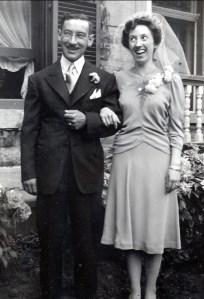1942, mariage Jeanne de Kinder et Jean-Paul Naubert