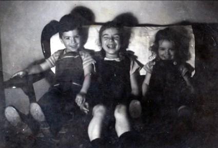 1946, Marc, Paulette et Irène