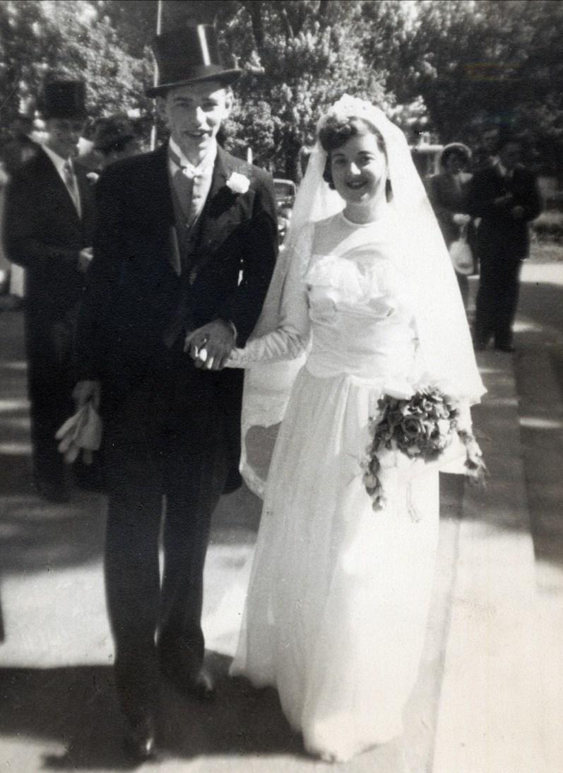 1947, Mariage Louis de Kinder et Ruth Starnes