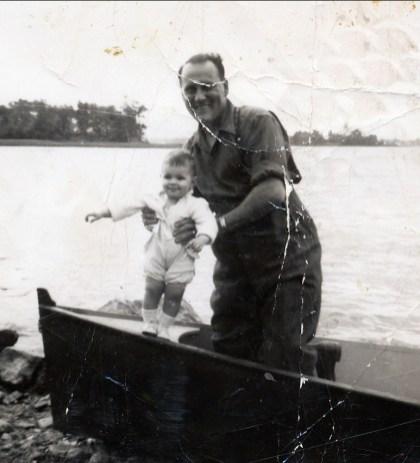 1947 approx Lauréat Bergeron fils- ti-Lou avec jimmy ou Hélèna Sofio