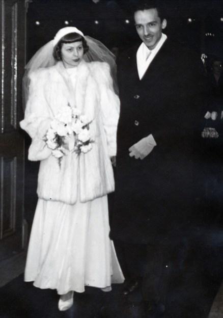 1950, mariage Janine Mathieu et Maurice de Kinder