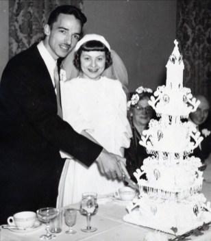 1950, mariage Maurice de Kinder et Janine Mathieu